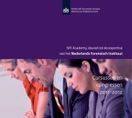 Cursussen en congressen 2011-2012 - Nederlands Forensisch ...