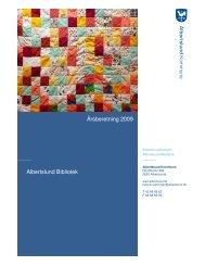Årsberetning 2009 Albertslund Bibliotek