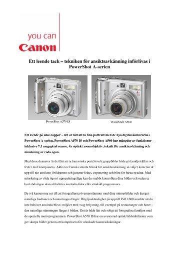 Ett leende tack – tekniken för ansiktsavkänning införlivas i ... - Canon
