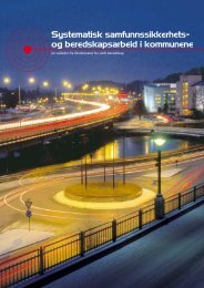 Systematisk samfunnssikkerhets- og beredskapsarbeid i kommunene