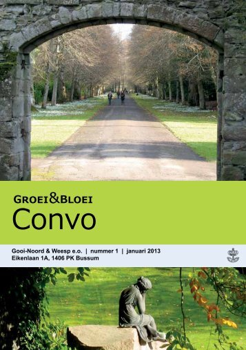 Convo 1-2013 - Gooi-Noord - Groei & Bloei