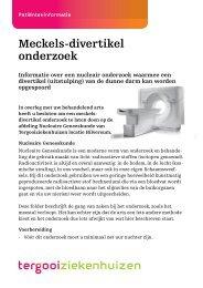 Meckels-divertikel onderzoek (Hilversum / Blaricum) [160kb] - Tergooi