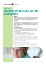 Dikke darm (passage-onderzoek) - Jeroen Bosch Ziekenhuis