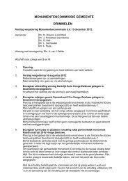 Verslag Monumentencommissie d.d. 13 december 2012 - Gemeente ...