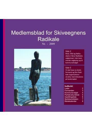 Medlemsblad for Skiveegnens Radikale - Radikale Venstre Skive