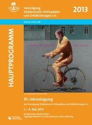 HA UPTPROGRAMM - Zur Jahrestagung 2013 - VSOU