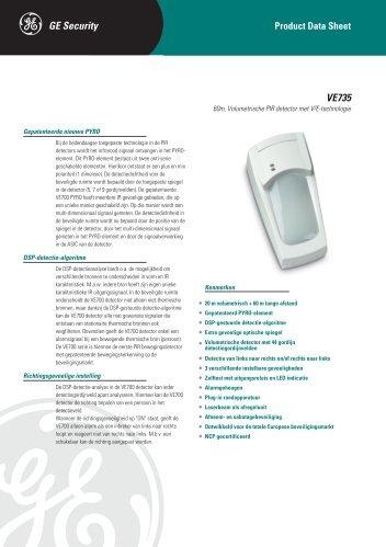 VE735 - DATASHEET - NL - De Beveiligingswinkel