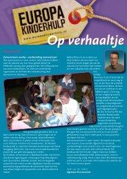 Op Verhaaltje van oktober 2009 - Europa Kinderhulp