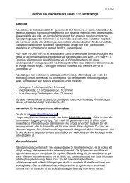 Rutiner för medarbetare inom EFS Mittsverige