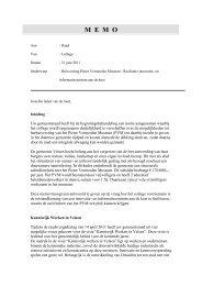 PLEIN-110929-1-Bespreekmemo realisatie nieuwe huisvesting Pieter
