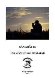 Här hittar du nu också Måndårarnas Sångbok, tredje upplagan, från ...