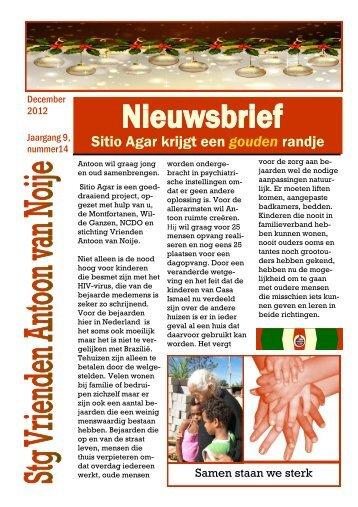 nieuwsbrief kerst 2012 def - Stichting Vrienden Antoon van Noije