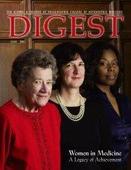 Digest 2008 - Philadelphia College of Osteopathic Medicine