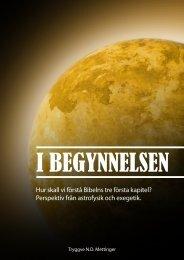 Hur skall vi förstå Bibelns tre första kapitel? - Tryggvemettinger.com