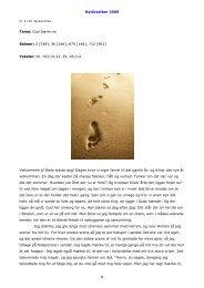 Nytårsaften 2009 1 Tema: Gud bærer os Salmer: 2 ... - Burkal Kirke