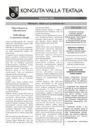 Konguta valla infoleht September 2006 - Konguta Vald