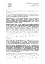 Transcrição da Teleconferência sobre Fato Relevante - Marfrig