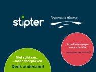 Download de presentatie Stipter & gemeente Almere
