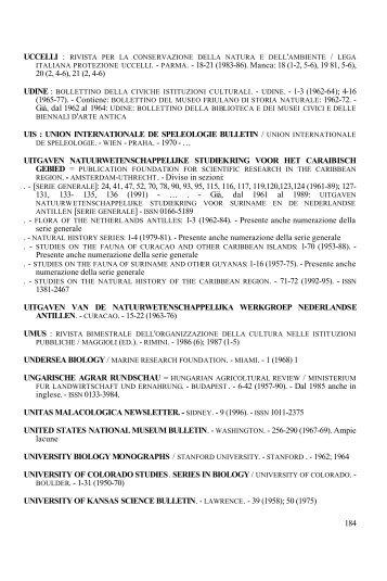 U - Istituto Veneto di Scienze, Lettere ed Arti
