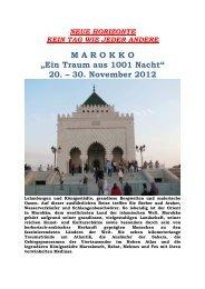 "M A R O  K K O ""Ein Traum aus 1001 Nacht"" 20. – 30. November 2012"
