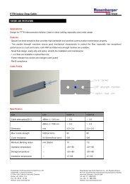 FTTH Indoor Drop Cable Data Sheet - Rosenberger