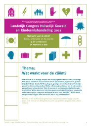 Download het volledige programma (pdf) - Huiselijk Geweld