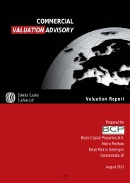 COMMERCIAL VALUATION ADVISORY