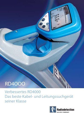 RD4000 SB GER_correction_28102008.indd - Radiodetection
