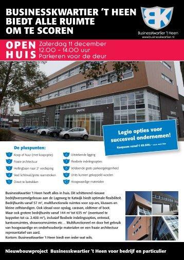 OPEN HUIS - Businesskwartier 't Heen