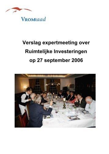 Debatverslag expertmeeting - Raad voor de leefomgeving en ...