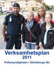 Verksamhetsplan 2011 - Polisen