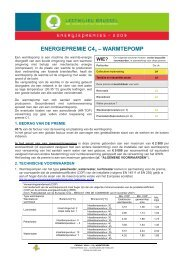 ENERGIEPREMIE C4a – WARMTEPOMP - Ibge