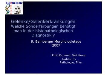 Gelenke/Gelenkerkrankungen - Bamberger Morphologietage