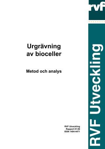 2001:06 Urgrävning av bioceller. Metod och analys - Avfall Sverige