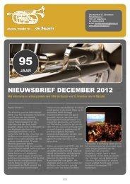 NIEUWSBRIEF DECEMBER 2012 - CMV de Bazuin
