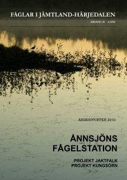 Årsrapport 2010 - Ånnsjöns fågelstation