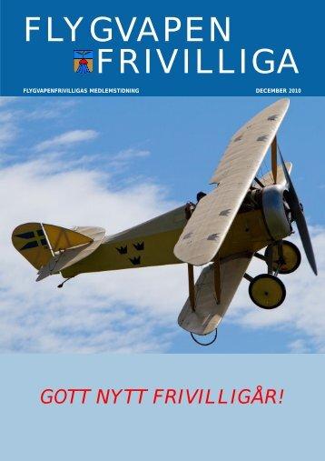 FVRF Tidningen dec 2010 - Flygvapenfrivilliga