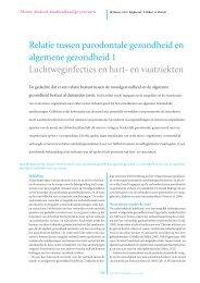 Relatie tussen parodontale gezondheid en algemene gezondheid 1 ...