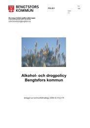 Alkohol- och drogpolicy Bengtsfors kommun