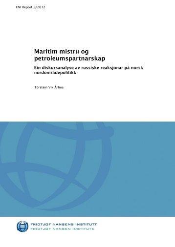 Maritim mistru og petroleumspartnarskap - Fridtjof Nansens Institutt