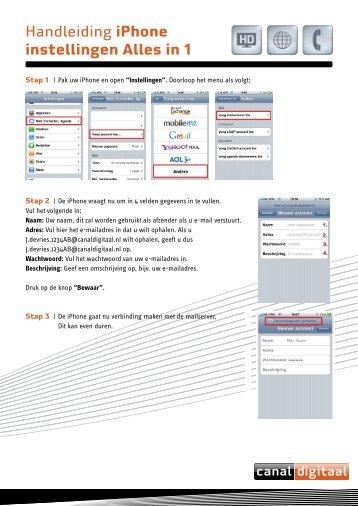 Handleiding iPhone instellingen Alles in 1 - CanalDigitaal