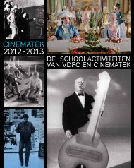 scholenbrochure in pdf - Vlaamse dienst voor filmcultuur