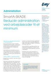 Læs vores produktblad om SmartA-SKADE - Evry