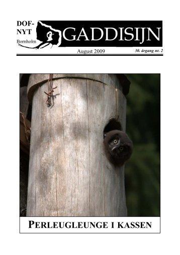 Gaddisijn nr.2 august 2009 - DOF Bornholm