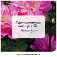 I Blomsterkungens lummiga salar (pdf, 1 MB) - Destination Uppsala