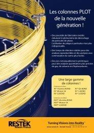 Les colonnes PLOT de la nouvelle génération ! - Restek