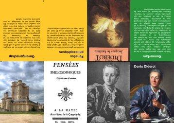 Denis Diderot Gevangenschap Kenmerken Pensées ... - Picozone.nl