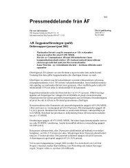 Pressmeddelande från ÅF - AB Ångpanneföreningen
