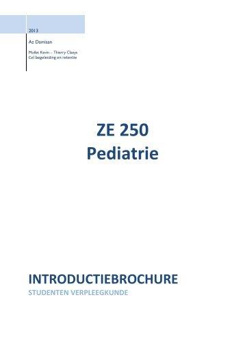 ZE 250 Pediatrie - Studenten - AZ Damiaan