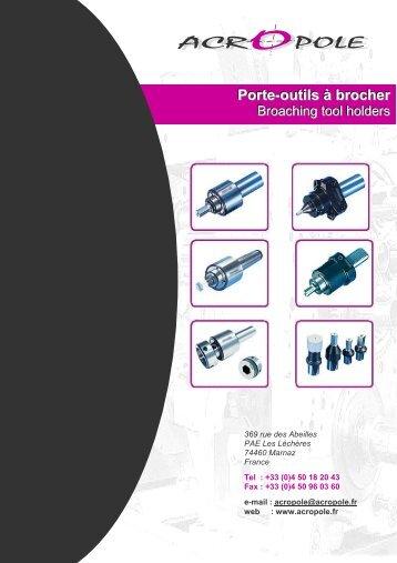 Porte-outils à brocher - ACROPOLE